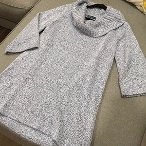 Karen Scott cowl neck grey tunic medium